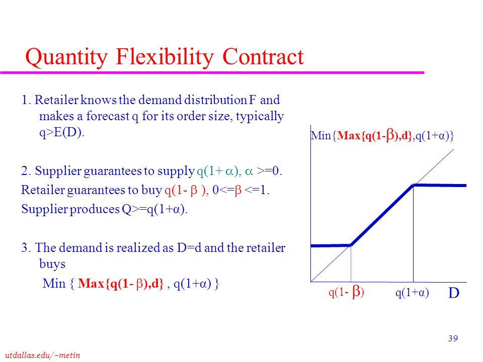 Quantity Flexibility Contract