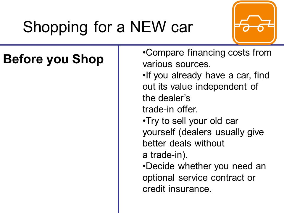 Shopping for a NEW car Before you Shop