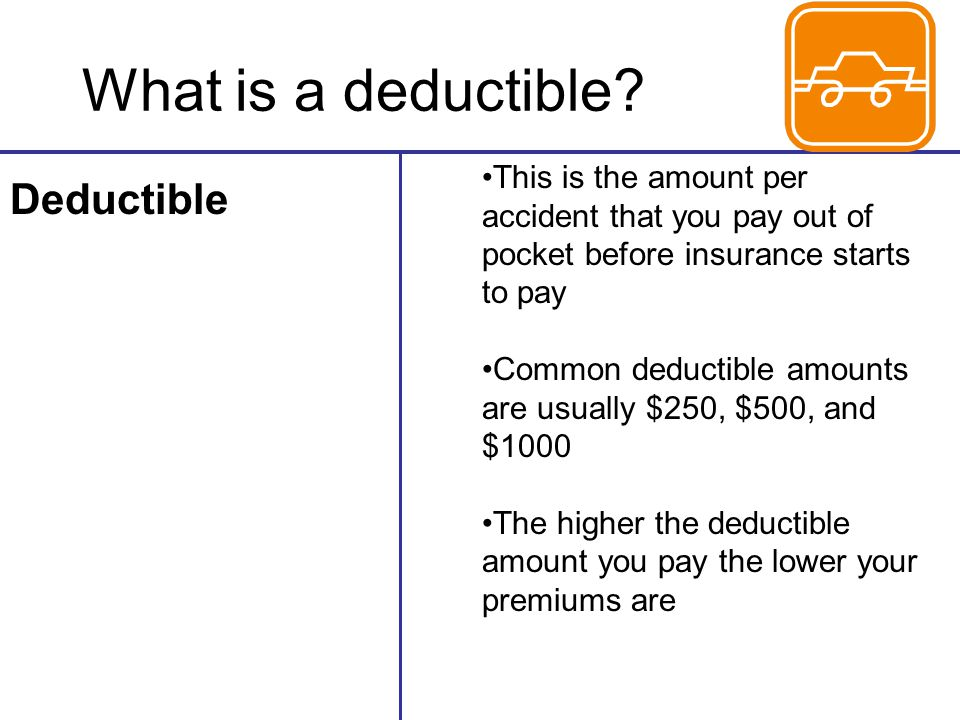 What is a deductible Deductible