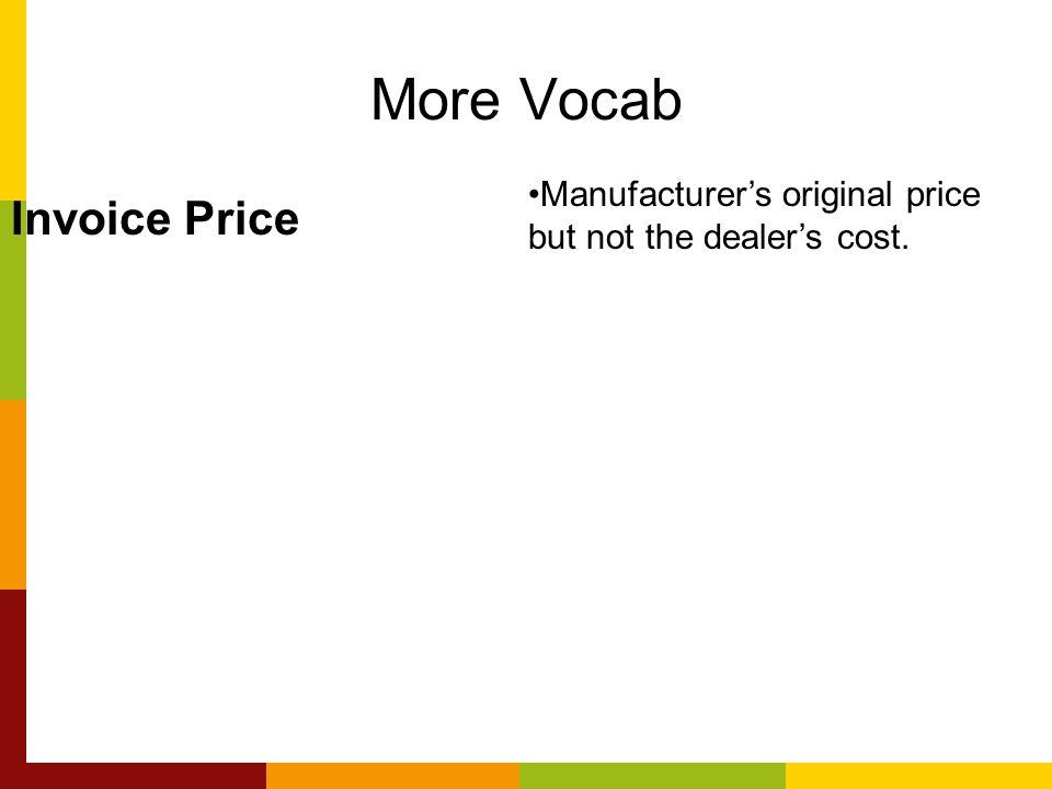 More Vocab Invoice Price
