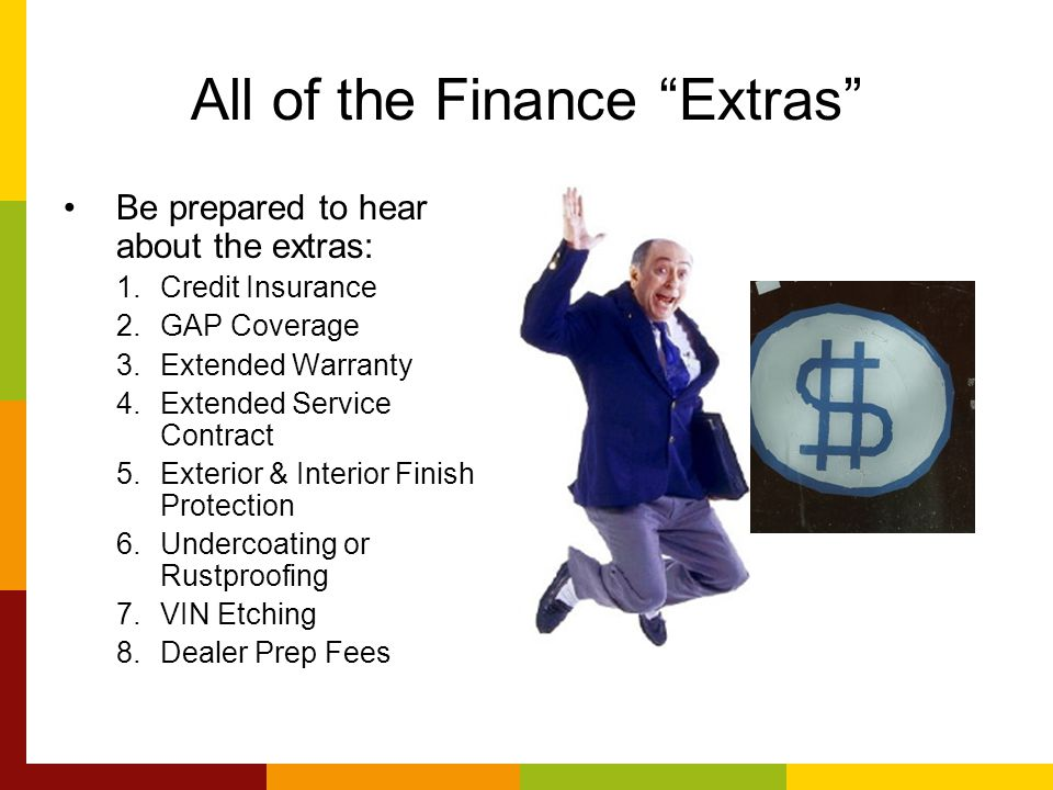 All of the Finance Extras