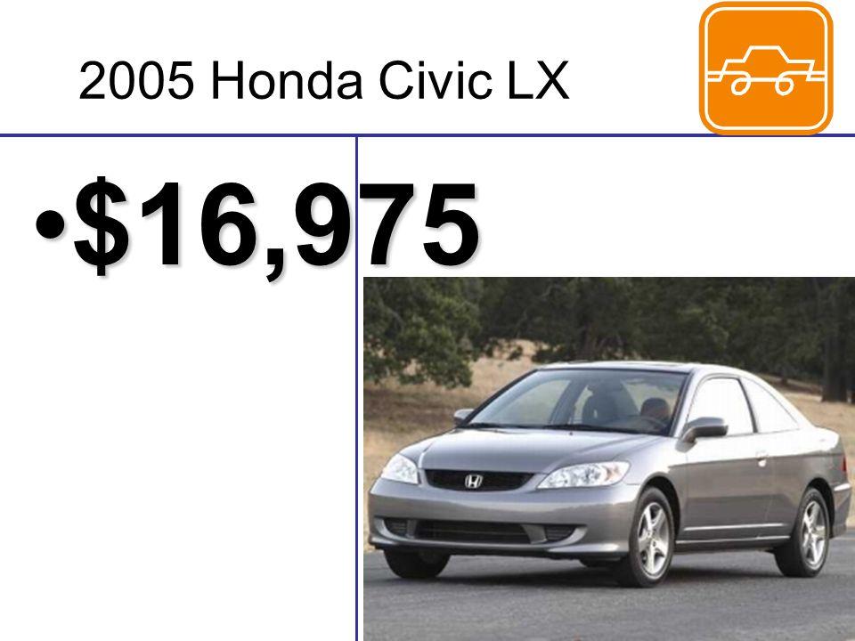 2005 Honda Civic LX $16,975