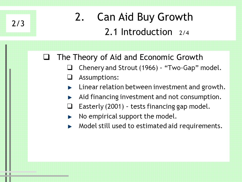 Can Aid Buy Growth 2.1 Introduction 2/4