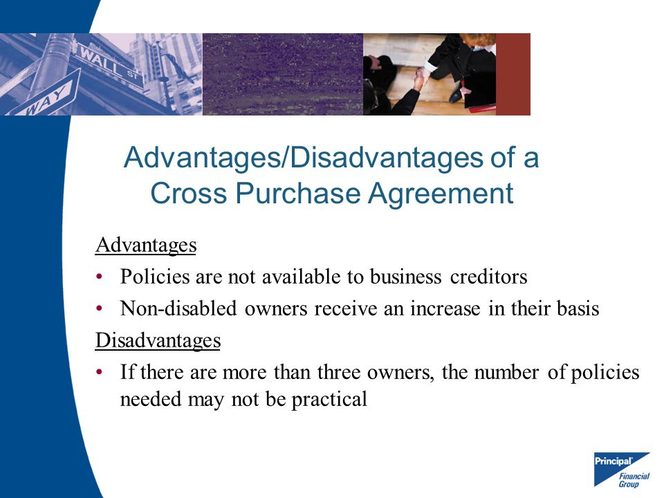 Advantages/Disadvantages of a Cross Purchase Agreement