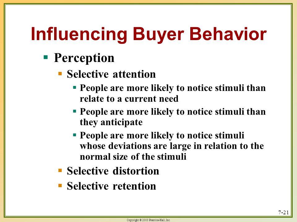 Influencing Buyer Behavior