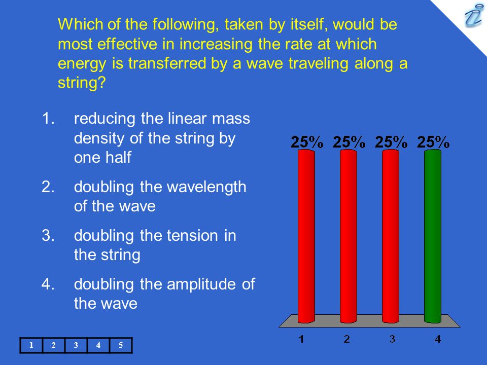 reducing the linear mass density of the string by one half
