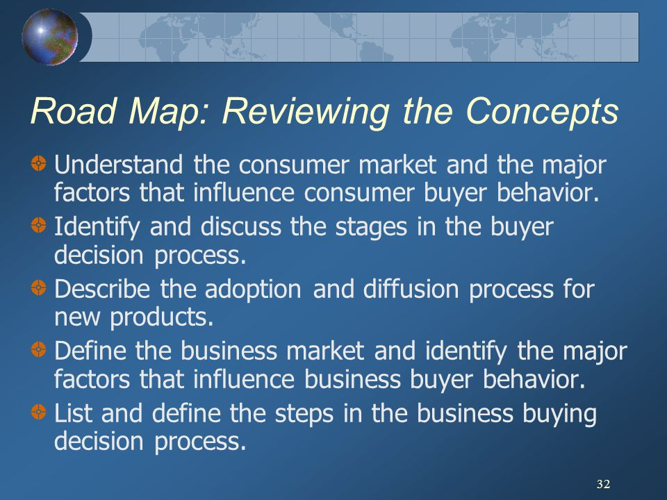 Road Map: Reviewing the Concepts