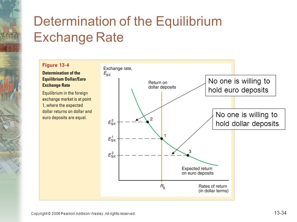 Determination of the Equilibrium Exchange Rate