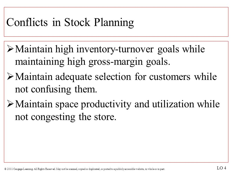 Conflicts in Stock Planning