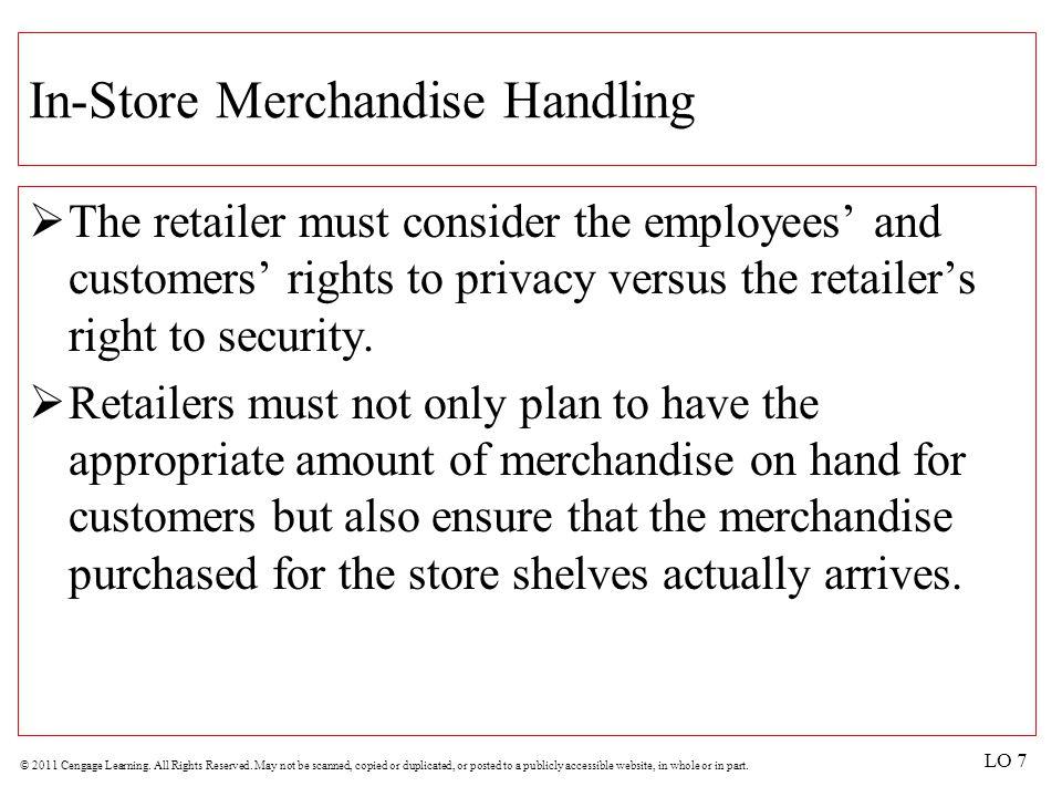 In-Store Merchandise Handling