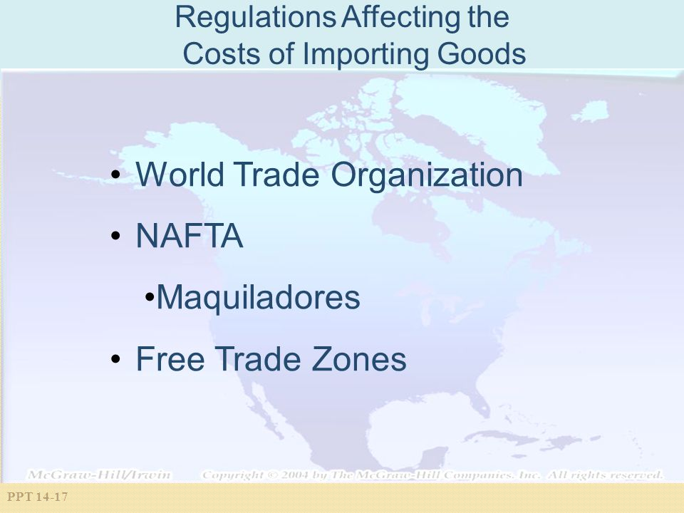 Regulations Affecting the Costs of Importing Goods