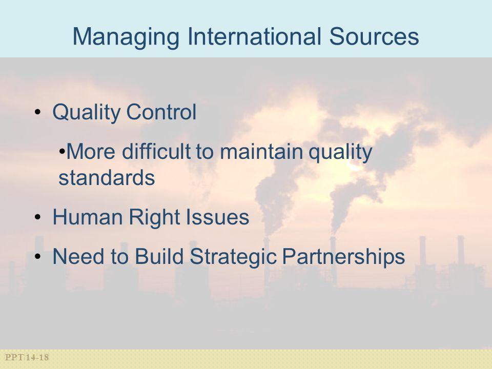 Managing International Sources