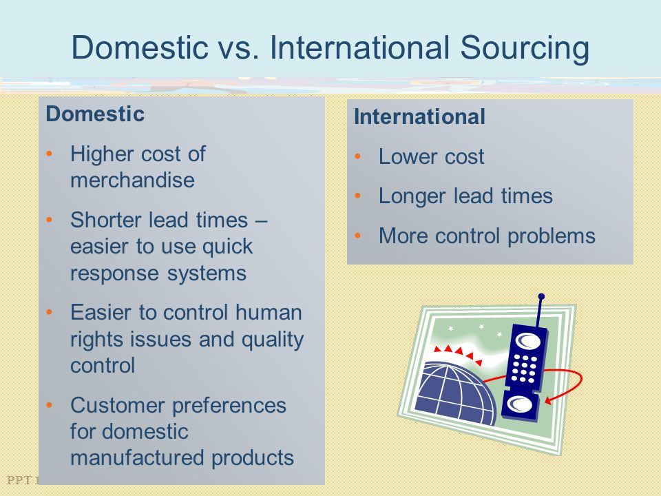 Domestic vs. International Sourcing