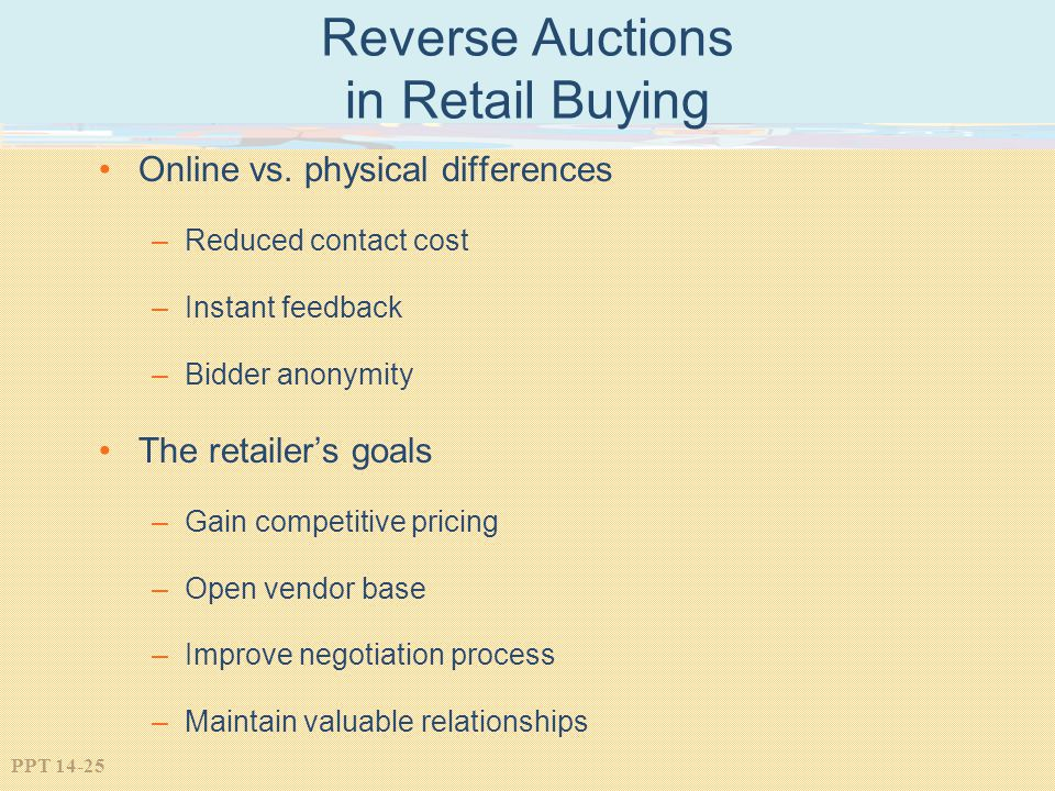 Reverse Auctions in Retail Buying