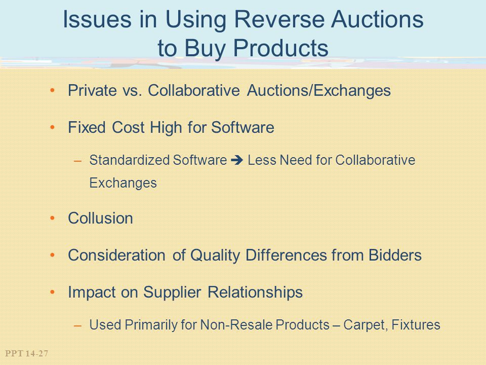 Issues in Using Reverse Auctions to Buy Products