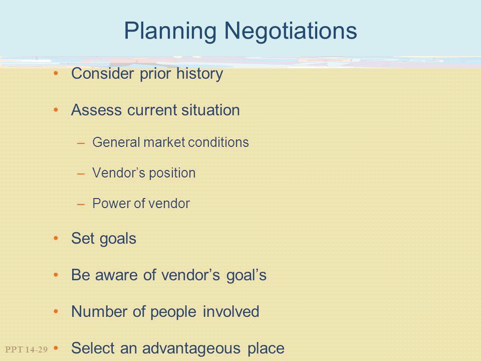 Planning Negotiations