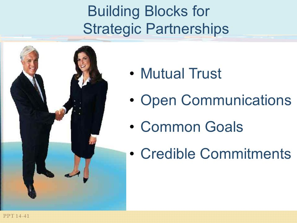 Building Blocks for Strategic Partnerships