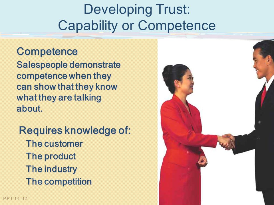 Developing Trust: Capability or Competence