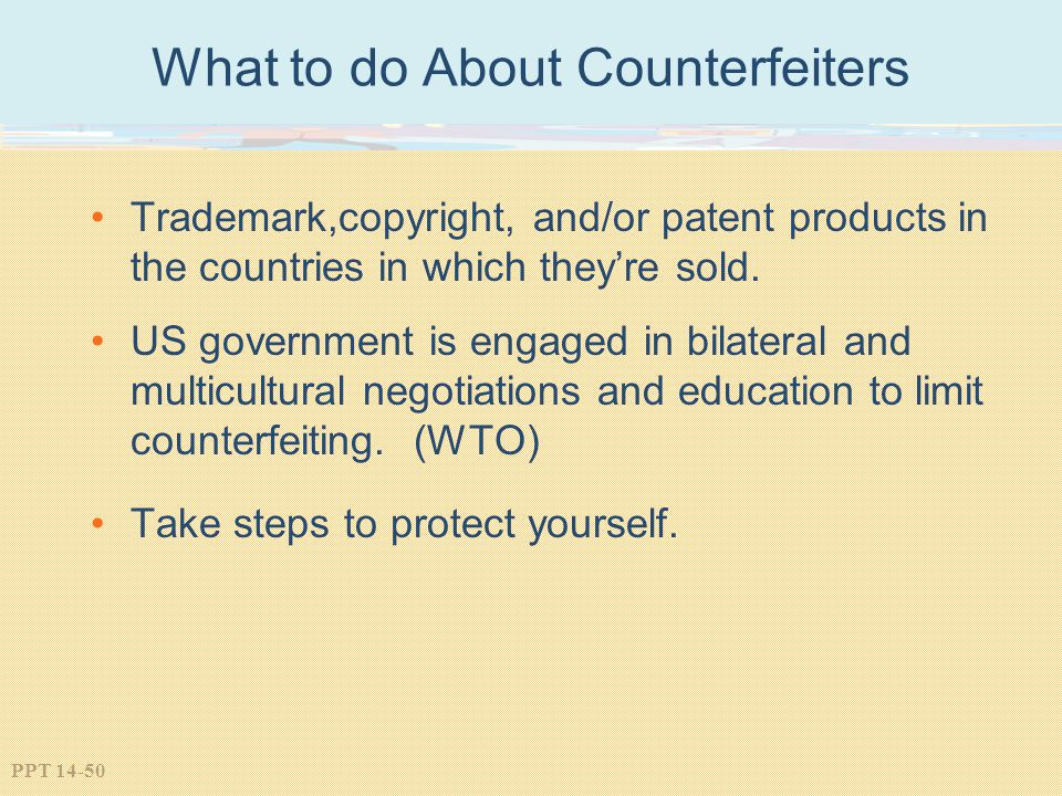 What to do About Counterfeiters