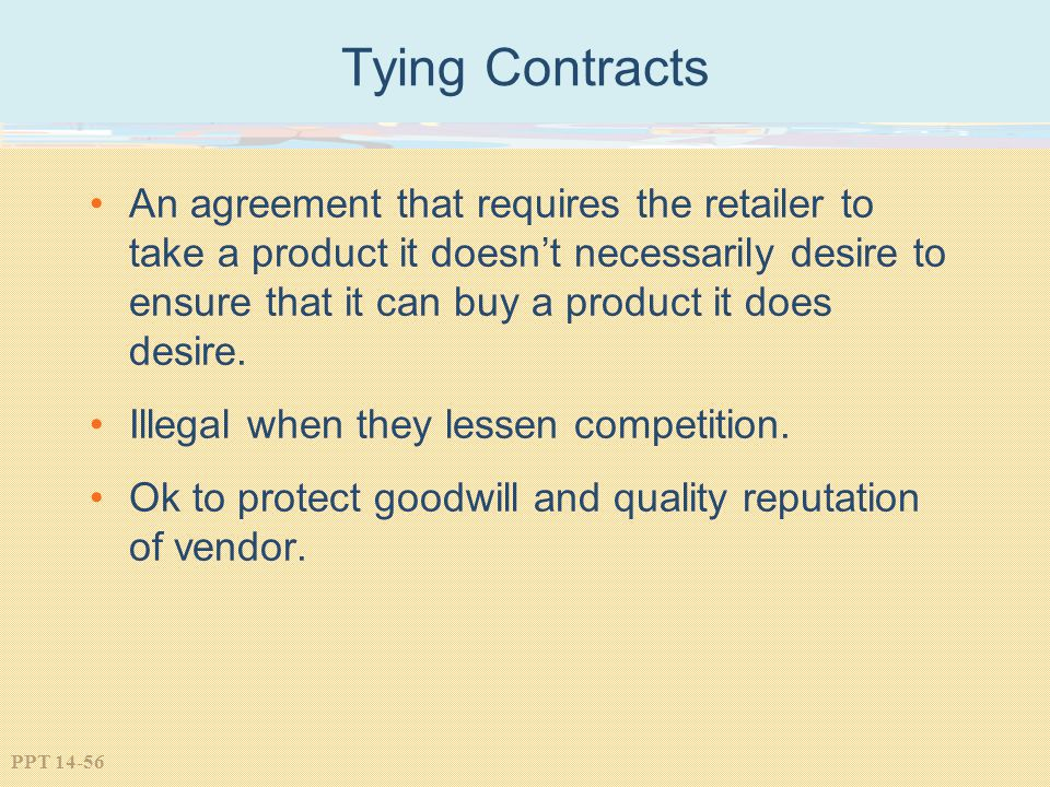 Tying Contracts