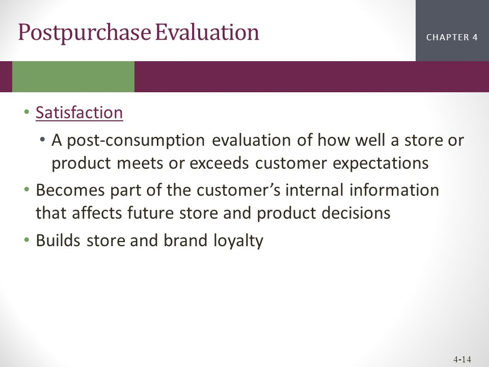 Postpurchase Evaluation