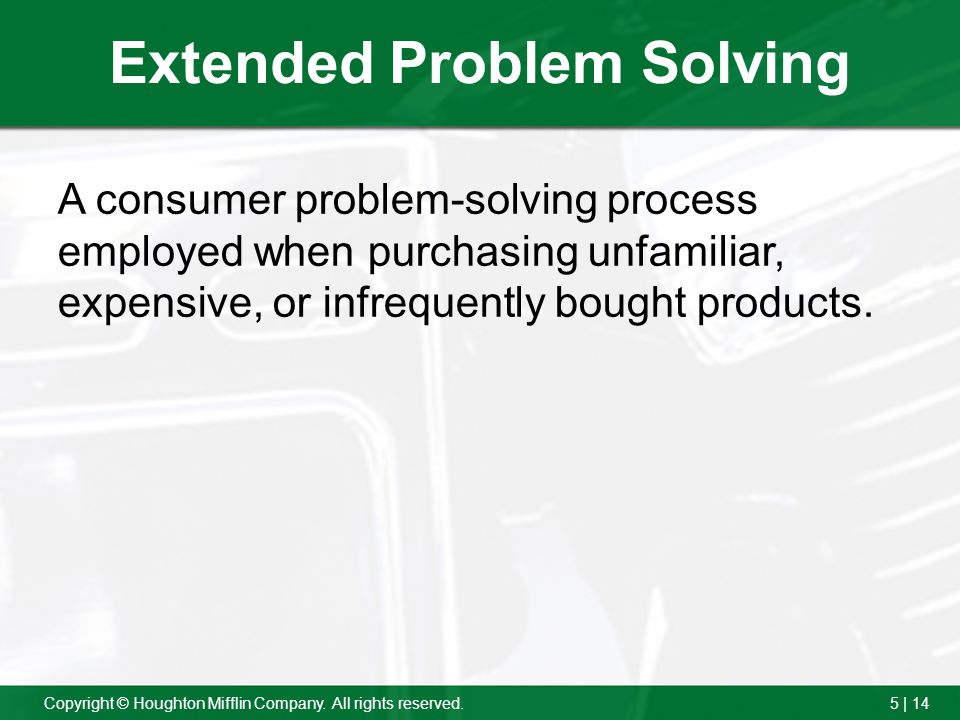Extended Problem Solving