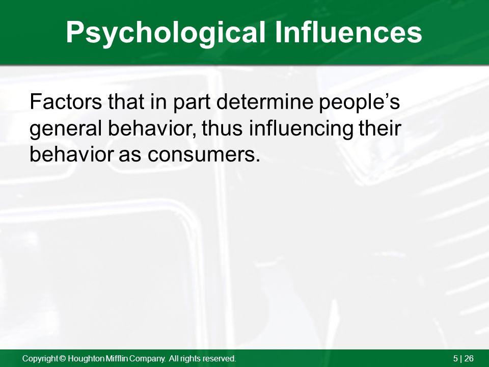 Psychological Influences