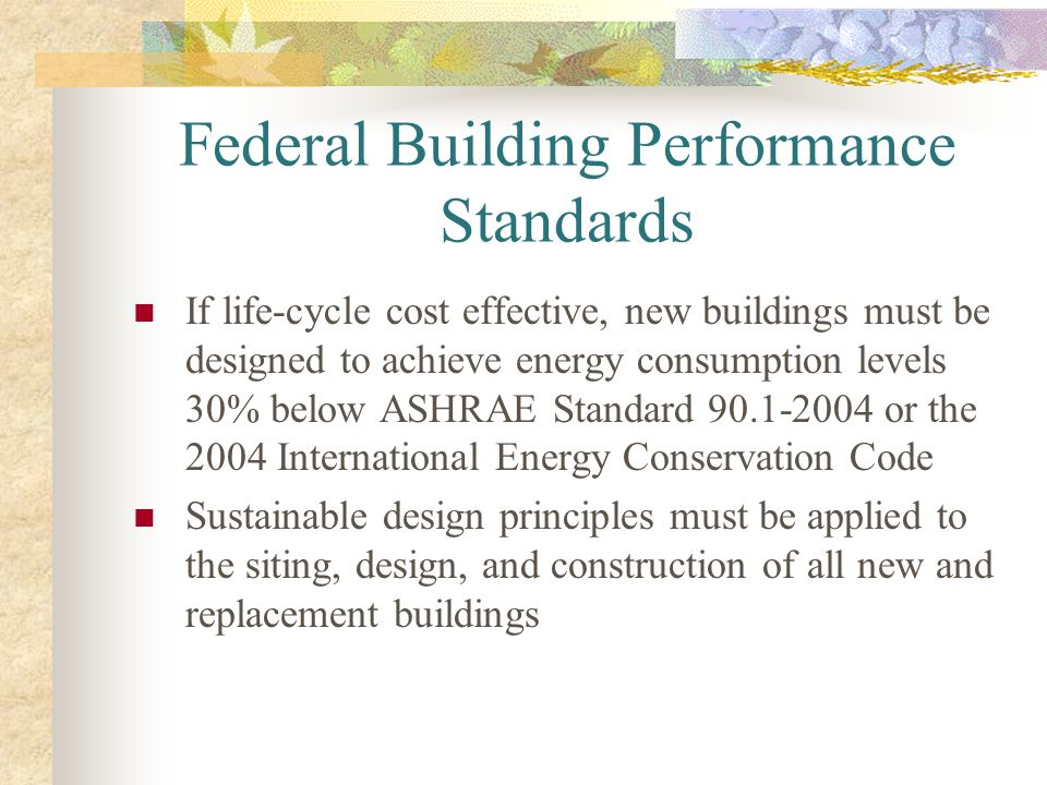 Federal Building Performance Standards
