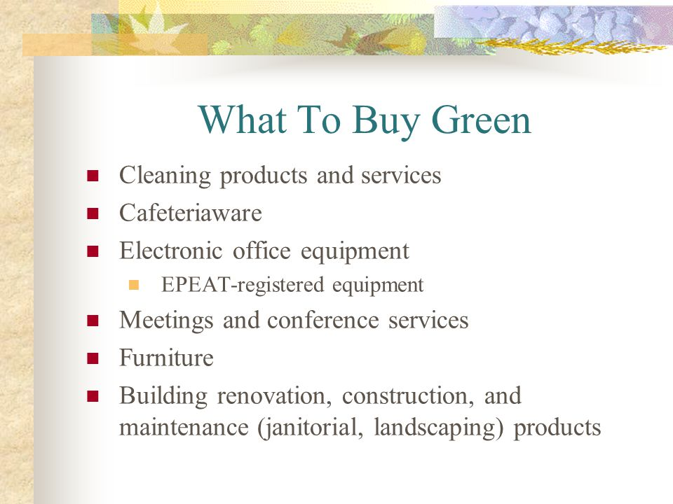 What To Buy Green Cleaning products and services Cafeteriaware