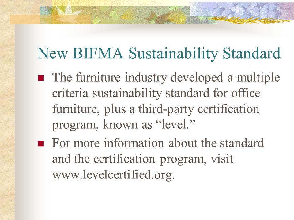 New BIFMA Sustainability Standard
