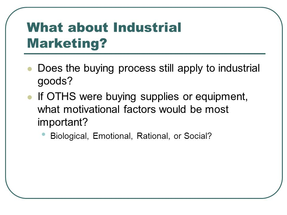 What about Industrial Marketing