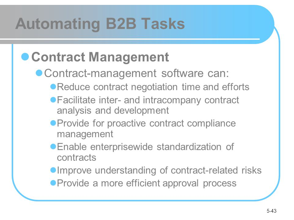 Automating B2B Tasks Contract Management