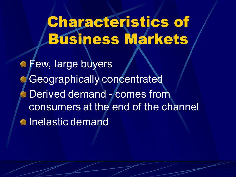 Characteristics of Business Markets