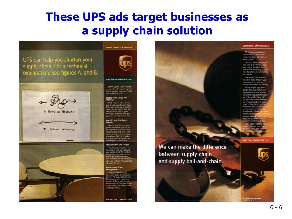 These UPS ads target businesses as a supply chain solution