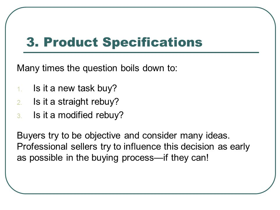 3. Product Specifications