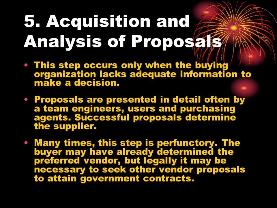 5. Acquisition and Analysis of Proposals