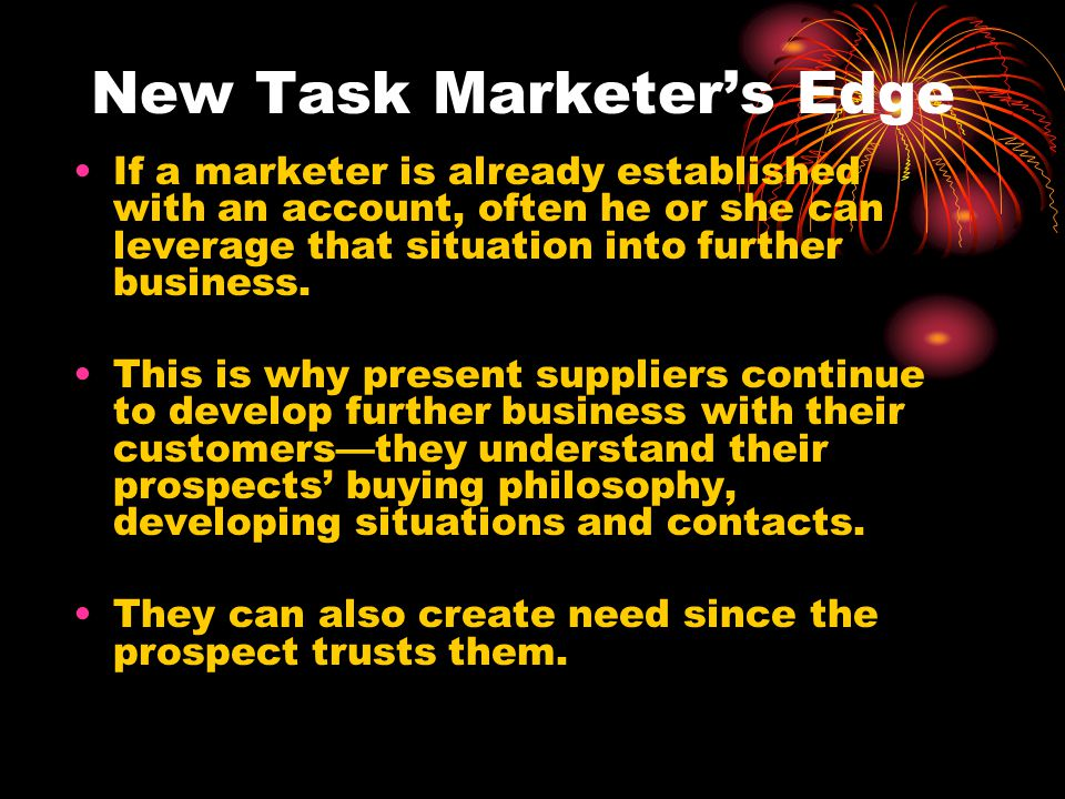 New Task Marketer's Edge