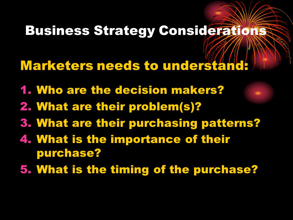 Business Strategy Considerations