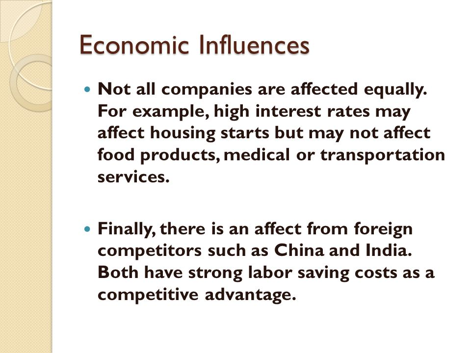 Economic Influences