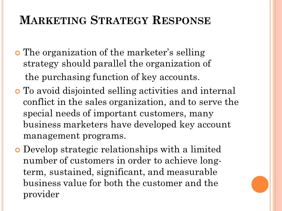 Marketing Strategy Response