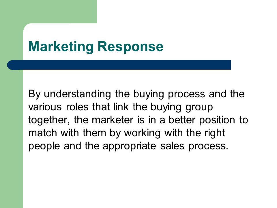 Marketing Response