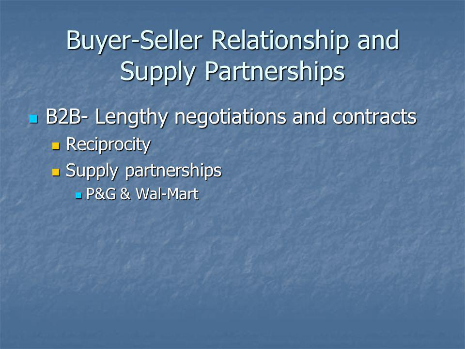 Buyer-Seller Relationship and Supply Partnerships