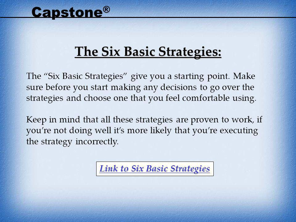 The Six Basic Strategies: Link to Six Basic Strategies