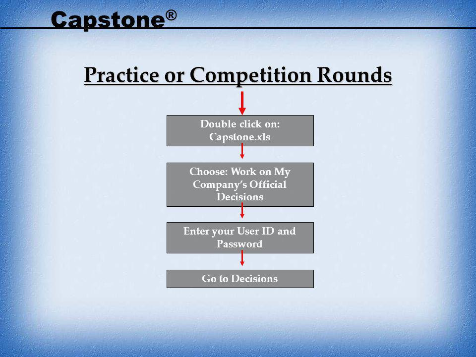 Capstone® Practice or Competition Rounds Double click on: Capstone.xls