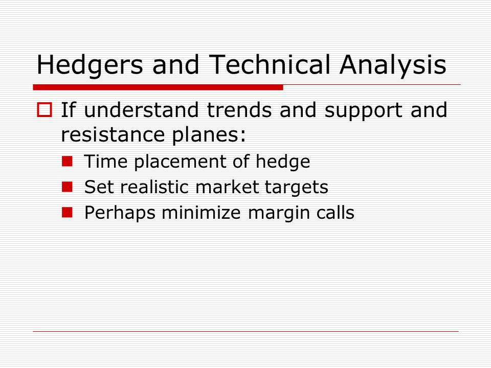 Hedgers and Technical Analysis