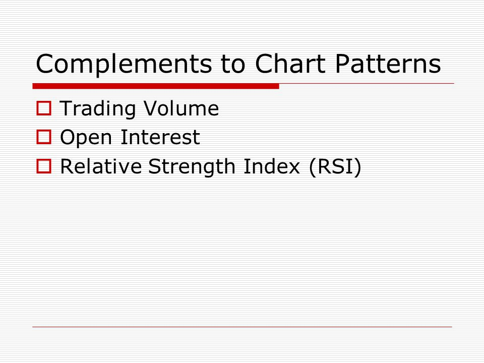 Complements to Chart Patterns