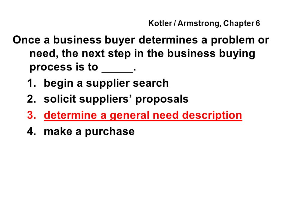 Kotler / Armstrong, Chapter 6