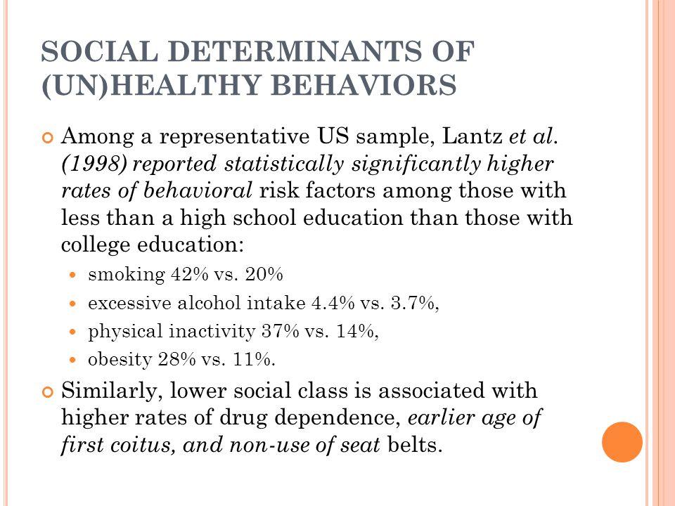 SOCIAL DETERMINANTS OF (UN)HEALTHY BEHAVIORS