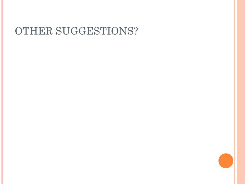 OTHER SUGGESTIONS MANDI
