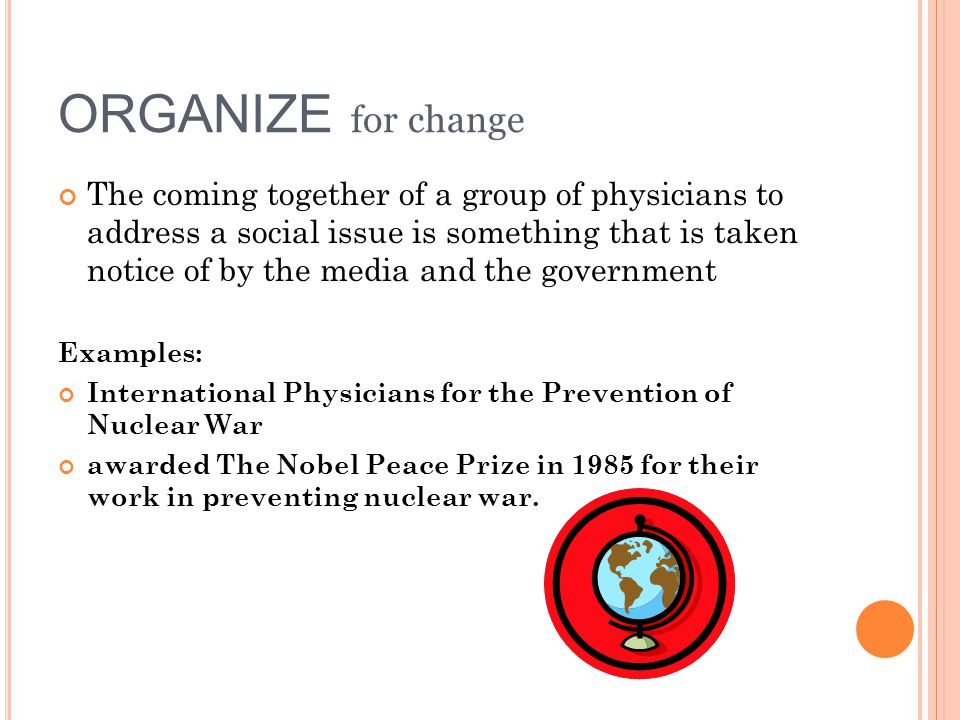 ORGANIZE for change